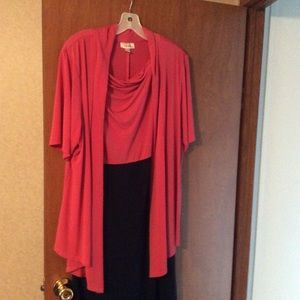 Dress Barn women's dress with attached jacket
